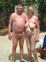 Older dames at sunny and sandy nudist beaches - Chubby Naturists